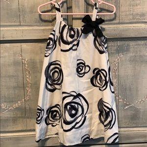 Baby Gap black & white flower dress. Size 3yrs